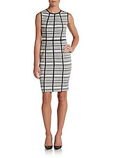 Calvin Klein Striped Panel-Detailed Sheath Dress