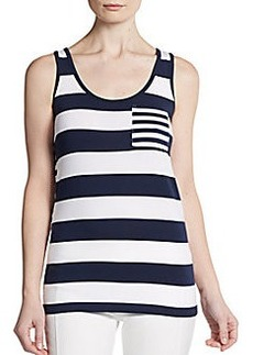 French Connection Fast Fun Striped Tank Top