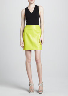 JASON WU Leather Pencil Skirt