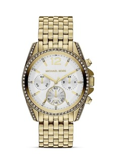 Michael Kors Mid-Size Gold Tone Pressley Chronograph Glitz Watch, 39mm