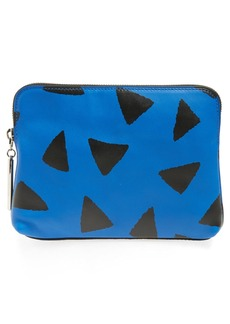 3.1 Phillip Lim '31 Second' Triangle Print Leather Pouch