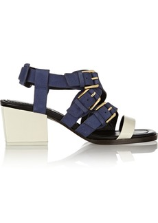 3.1 Phillip Lim Bee textured-suede and smooth-leather sandals