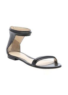 3.1 phillip lim black leather 'Martini' flat sandals