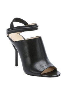 3.1 phillip lim black leather 'Martini' slingback sandals
