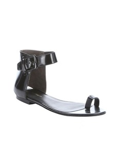 3.1 phillip lim black patent leather 'Isabela' toe-strap sandals