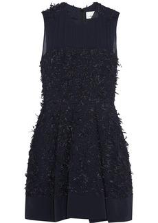 3.1 Phillip Lim Chiffon-paneled textured-tweed dress