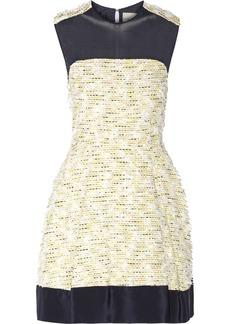 3.1 Phillip Lim Chiffon-paneled textured-tweed mini dress