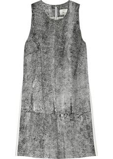 3.1 Phillip Lim Coated leather mini dress