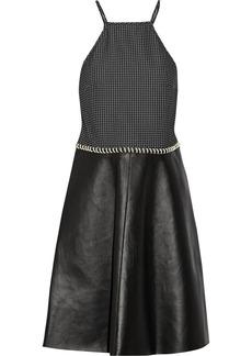 3.1 Phillip Lim Coil-detailed matelassé and leather dress