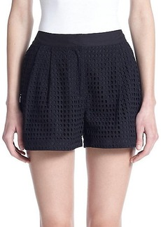 3.1 Phillip Lim Cotton Eyelet Shorts