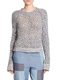 3.1 Phillip Lim Cotton Open-Knit Sweater