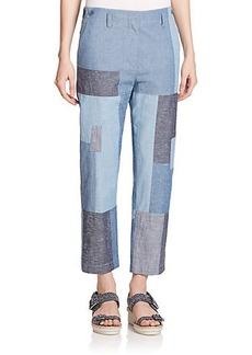 3.1 Phillip Lim Cotton Patchwork Pants