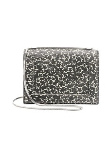 3.1 phillip lim cream and black cow print leather 'Soleil' chain mini shoulder bag