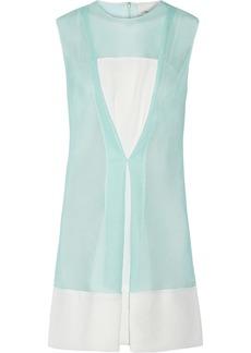 3.1 Phillip Lim Crepe-trimmed mesh mini dress
