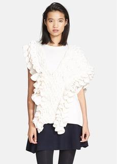 3.1 Phillip Lim Crochet Ruffle Cable Knit Tank