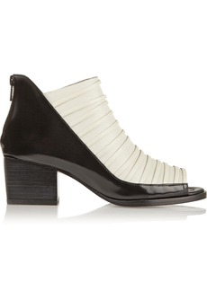 3.1 Phillip Lim Dede glossed-leather ankle boots