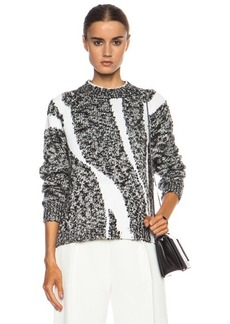 """3.1 phillip lim <div class=""""product_name"""">Abstract Stripe Cotton-Blend Sweater</div>"""