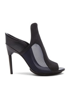 """3.1 phillip lim <div class=""""product_name"""">Aria High Heel Calfskin Leather Mules</div>"""
