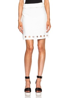 """3.1 phillip lim <div class=""""product_name"""">Cotton-Blend A Line Skirt with Embroidered Eyelet Details</div>"""