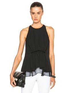 """3.1 phillip lim <div class=""""product_name"""">Crepe Tank with Gathered Waist</div>"""