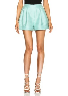 """3.1 phillip lim <div class=""""product_name"""">Curved Hemband Poly-Blend Shorts</div>"""