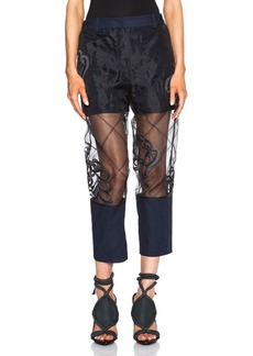 """3.1 phillip lim <div class=""""product_name"""">Fern Embroidery Organza Pant</div>"""