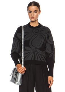 """3.1 phillip lim <div class=""""product_name"""">Floral Embroidery Cotton-Blend Sweater</div>"""