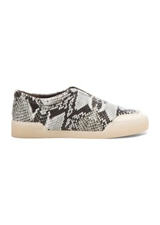 """3.1 phillip lim <div class=""""product_name"""">Morgan Python Print Low Top Leather Sneakers</div>"""