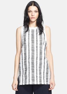 3.1 Phillip Lim Embroidered Stripe Cotton Tank