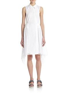 3.1 Phillip Lim Eyelet-Paneled Cotton Shirtdress