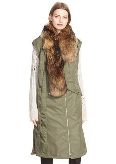 3.1 Phillip Lim Flight Vest with Removable Genuine Coyote Fur Stole