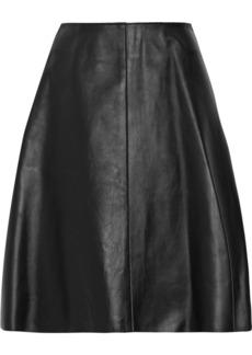 3.1 Phillip Lim Flounce leather skirt