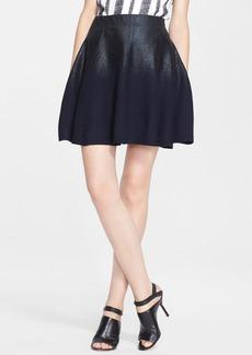 3.1 Phillip Lim Foiled Felted Wool Skirt