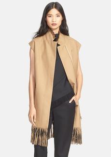 3.1 Phillip Lim Fringe Detail Long Wool Vest