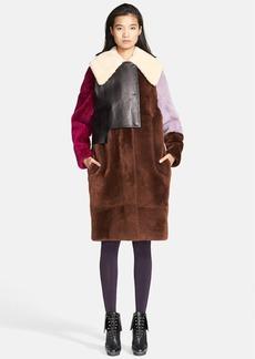 3.1 Phillip Lim Genuine Shearling Patchwork Coat