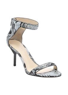 3.1 phillip lim grey python embossed leather 'Martini' sandals