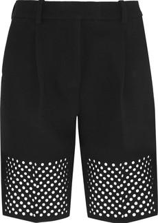 3.1 Phillip Lim Laser-cut crepe shorts