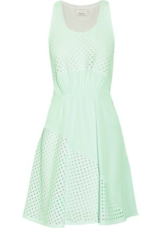 3.1 Phillip Lim Laser-cut scuba mini dress