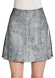 3.1 Phillip Lim Leather A-Line Skirt