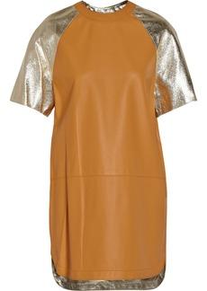 3.1 Phillip Lim Leather baseball mini dress