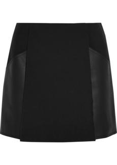 3.1 Phillip Lim Leather-paneled woven skirt