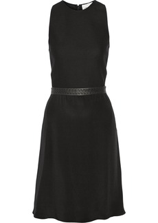 3.1 Phillip Lim Leather-trimmed cotton-blend and silk dress