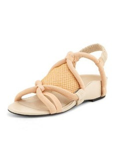 3.1 Phillip Lim Marquise Tubular Strappy Sandal, Peach