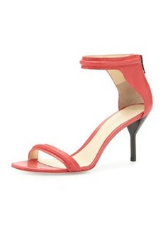 3.1 Phillip Lim Martini Mid-Heel Sandal, Raspberry