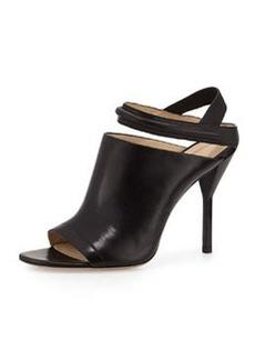 3.1 Phillip Lim Martini Peep Toe Leather Sandal, Black