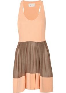 3.1 Phillip Lim Mesh-effect neoprene mini dress