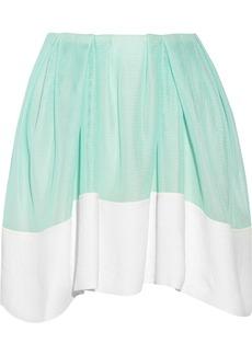3.1 Phillip Lim Mesh-effect neoprene mini skirt
