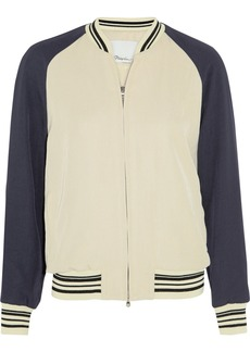 3.1 Phillip Lim Metallic satin-twill bomber jacket