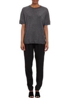 3.1 Phillip Lim Metallic Short-Sleeve Oversize Sweater