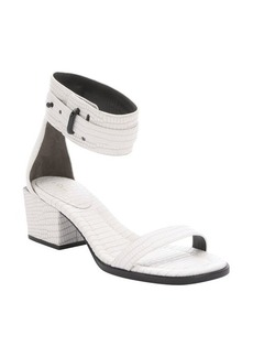 3.1 phillip lim optic white croc-embossed leather 'Coco' mid-heel sandals